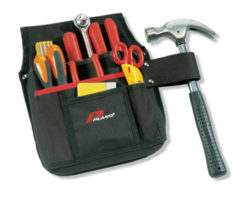 TOOL HOLDER WITH HAMMER LOOP