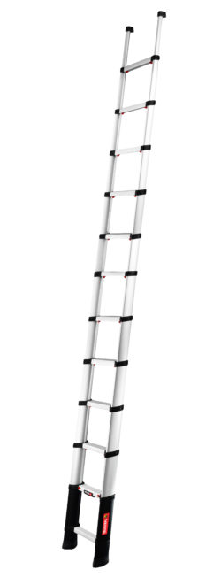 Solid line telescopic ladders